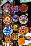 五颜六色的墨西哥瓦器 免版税库存图片