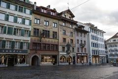 五颜六色的壁画装饰历史建筑 免版税图库摄影