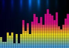 五颜六色的声波传染媒介例证 免版税库存照片