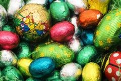 五颜六色的复活节嵌套 库存照片