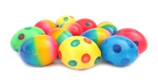 五颜六色的复活节彩蛋可爱的被绘的&# 库存照片