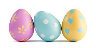 五颜六色的复活节彩蛋查出 免版税图库摄影