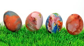 五颜六色的复活节彩蛋II 图库摄影