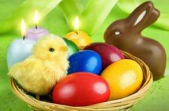 五颜六色的复活节排列 免版税库存照片