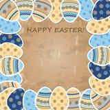 五颜六色的复活节纸鸡蛋 免版税库存图片