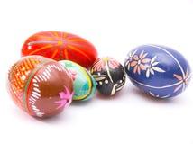 五颜六色的复活节egs 免版税图库摄影