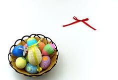 五颜六色的复活节彩蛋 免版税库存图片