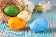 五颜六色的复活节彩蛋 免版税图库摄影