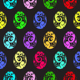 五颜六色的复活节无缝的样式 免版税库存照片