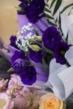 五颜六色的夏天花花束  图库摄影
