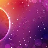五颜六色的外层空间背景 传染媒介占星术神秘主义者例证 向量例证