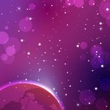 五颜六色的外层空间背景 传染媒介占星术神秘主义者例证 库存照片