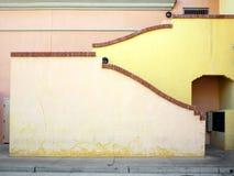 五颜六色的外部楼梯墙壁 库存照片