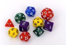 五颜六色的多支持的模子白色背景 免版税库存图片