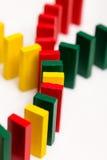 五颜六色的多米诺概念网络 免版税图库摄影