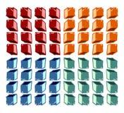 五颜六色的多维数据集模式 图库摄影