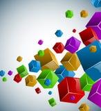 五颜六色的多维数据集背景 免版税库存图片