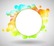 五颜六色的多维数据集设计 皇族释放例证