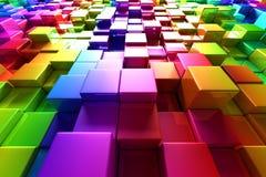 五颜六色的多维数据集 向量例证