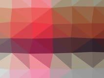 五颜六色的多角形例证 图库摄影