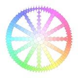 五颜六色的多角形变革轮子 向量例证