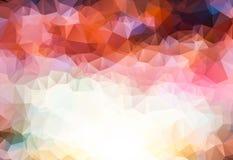 五颜六色的多角形背景 明亮的例证由五颜六色的三角做 库存照片