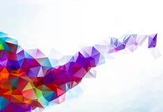 五颜六色的多角形马赛克背景,创造性的设计模板 图库摄影