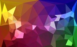 五颜六色的多角形 库存图片