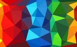五颜六色的多角形 免版税库存照片