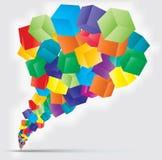 五颜六色的多维数据集向量背景 免版税库存图片