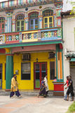 五颜六色的大厦在一点印度新加坡 图库摄影