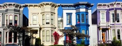 五颜六色的大厦在旧金山 免版税库存图片