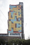 五颜六色的大厦在马普托,莫桑比克 免版税图库摄影