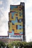 五颜六色的大厦在马普托,莫桑比克 免版税库存图片