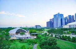 五颜六色的大厦城市在新加坡,旅行的更好的地方 库存照片