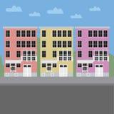五颜六色的大厦 库存图片