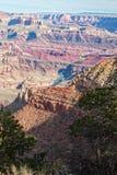 五颜六色的大峡谷横向 库存照片