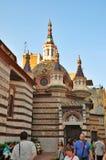 五颜六色的大教堂 免版税库存照片
