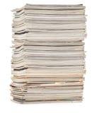 五颜六色的大杂志堆 免版税库存图片