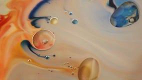 五颜六色的大理石背景 着墨大理石纹理 抽象绘画 美好的抽象背景 股票视频