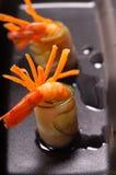 五颜六色的大虾虾开胃菜快餐 库存照片