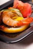 五颜六色的大虾虾开胃菜快餐 图库摄影