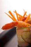 五颜六色的大虾虾开胃菜快餐 免版税库存图片