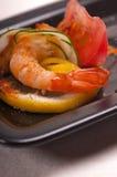 五颜六色的大虾虾开胃菜快餐 免版税库存照片