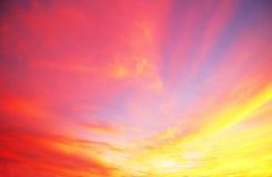 五颜六色的天空和云彩 库存照片