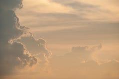 五颜六色的天空自然本底在日落时间 库存图片