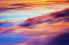 五颜六色的天空 库存图片