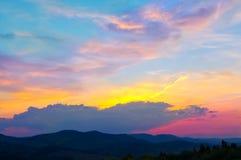 五颜六色的天空 免版税库存图片