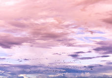 五颜六色的天空 库存照片