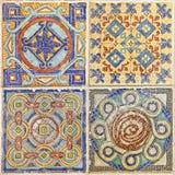 五颜六色的套装饰瓦片 免版税库存图片